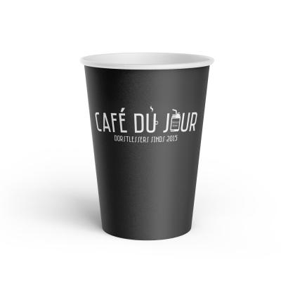 100 stuks kartonnen koffiebekers 'Café du Jour' (180cc/7oz)