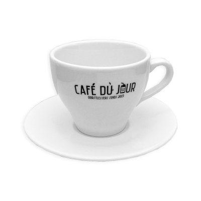 Café du Jour cappuccino kop en schotel