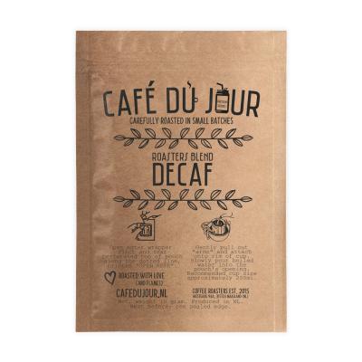 Café du Jour Single Serve Drip Coffee - Roasters Blend DECAF - Filter coffee on the GO!