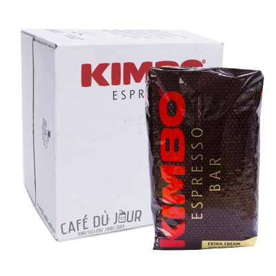 Kimbo Espresso Bar Extra Cream koffiebonen 6 x 1 kilo