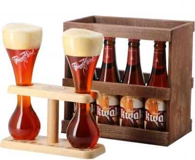 Pauwel Kwak geschenkset bierpakket in kist met dubbel glas