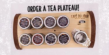Luxury café du jour tea plateau